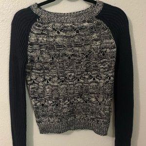 Baseball Sleeve Marled Sweater